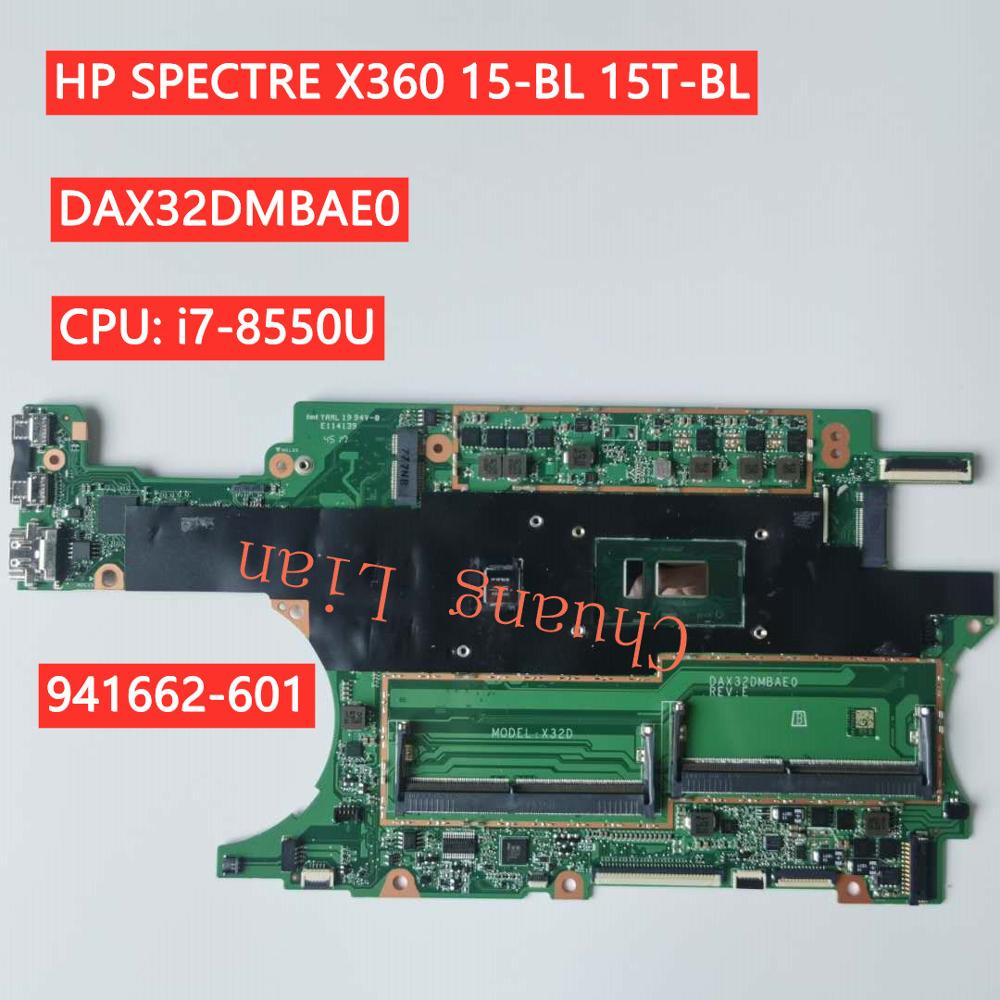 CPU DAX32DMBAE0 SPECTRE for HP X360/15-bl/15t-bl with I7-8550u/941662-601/Mx150 2GB 100%Fully-Tested