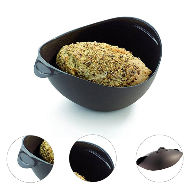 Creative Microwave Steamer Basket Pans Irregular Quadrate Shape Double Color Silicone Baking Dish And Pan DIY Baking And Pastry