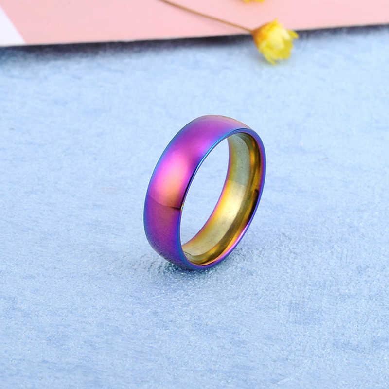 רוז זהב נירוסטה טבעת גברים צבע כסף תכשיטי זכר פאנק טבעת אירוסין טבעות לנשים חתונת הבטחת טבעת גברים מתנות