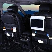 Автомобильная сумка для хранения на заднее сиденье бутылка для воды журнал Еда телефон органайзер для автомобиля автомобили заднее сиденье мульти Карманный держатель