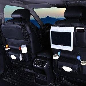 Image 1 - Araba arka koltuk saklama çantası su şişesi dergisi gıda telefon otomobil organizatör araba arka koltukta çok cep tutucu