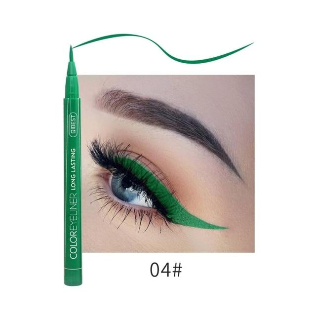 Hot 12 Color Eye Pencil Waterproof Eyeliner Liquid Make Up Matte Eye Liner Green Red Blue Brown Black Eyliner Easy To Wear 2