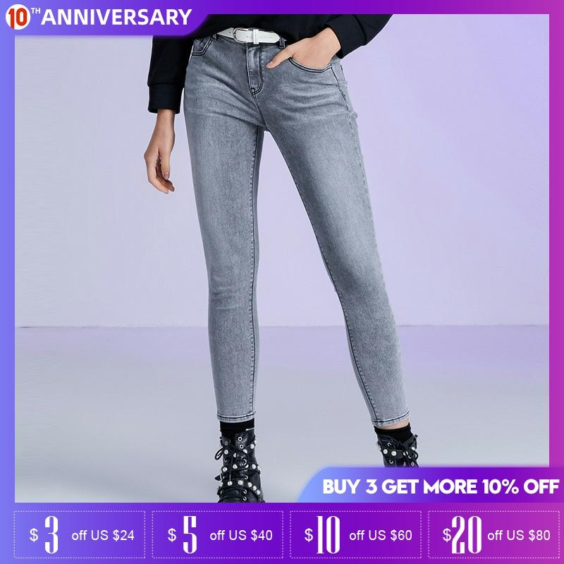 SELECTED Women Stretch Grey Skinny Jeans Pants | 419432502