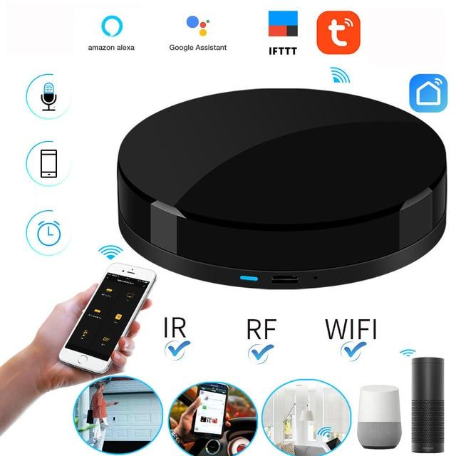 2019 commande vocale IRBOX Mini universel intelligent infrarouge voix télécommande AC TV Support Tuya/vie intelligente APP Alexa Google Home
