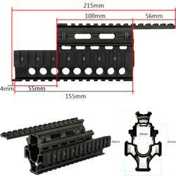 Tactische AK Handguard RIS Quad Rail Systeem Standaard Picatinny Weaver Rail Scope Mounts voor AK47 74 AKs Gun Accessoires Onderdelen