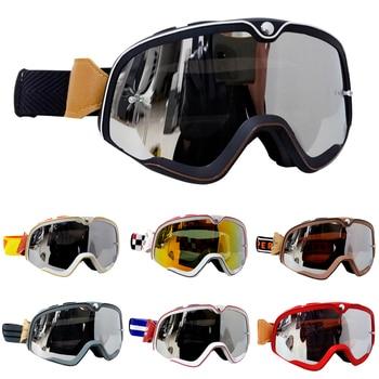 Gafas Retro Motocross MX todoterreno Moto Cascos gafas esquí Moto gafas ATV para Motocross gafas conjuntos de gafas