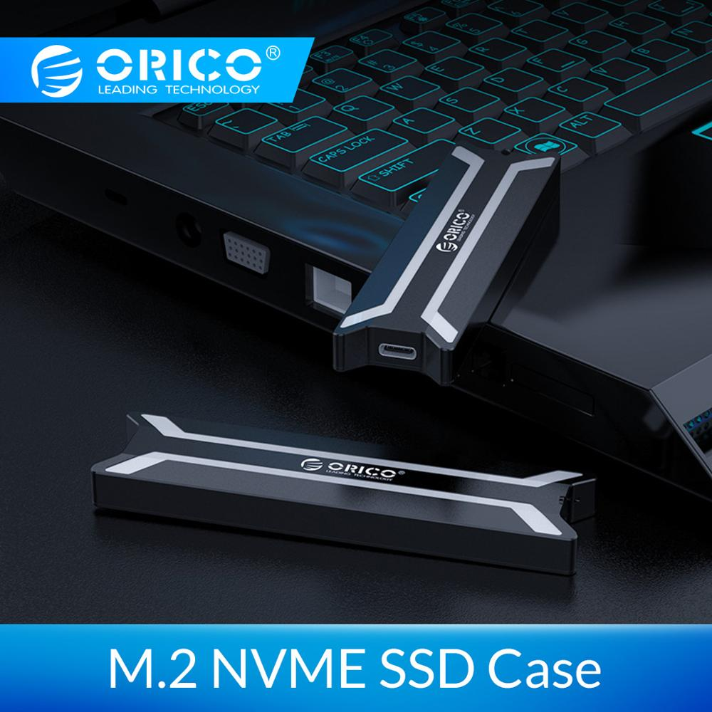 ORICO NVME M.2 SSD Case Aluminum Alloy Type C USB 3.1 Support 10Gbps UASP M.2 USB NVME Enclosure Aluminum Hard Drive Disk Box