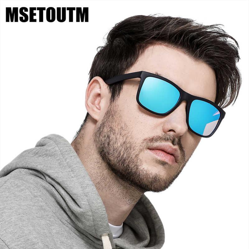 2020 MSETOUTM marque concepteur polarisé UV400 lunettes de soleil hommes et femmes pilote classique TR90 lumière Flexible éblouissement soleil verre 5048