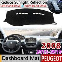 Für Peugeot 2008 2013 ~ 2019 Anti Slip Matte Dashboard Pad Sonnenschirm Dashmat Schützen Teppich Auto Zubehör 2014 2015 2016 2017 2018-in Autoaufkleber aus Kraftfahrzeuge und Motorräder bei