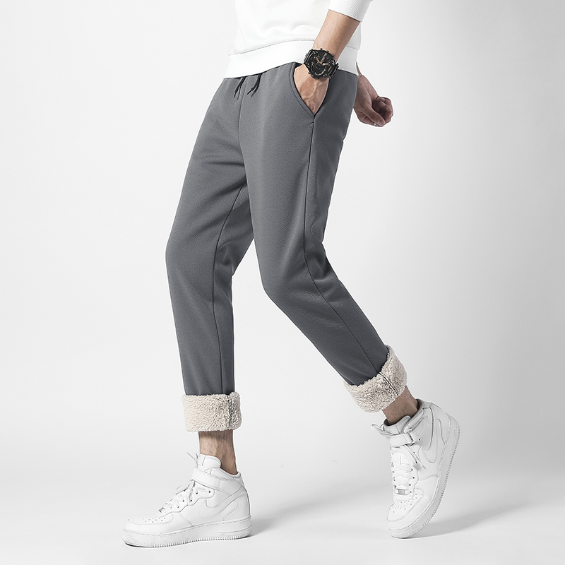 AKSR 2019 Winter Men's Sweatpants Streetwear Pants Big Sizes Cashmere Warm Pants Stretch Elastic Sport Joggers Pantalones Hombre