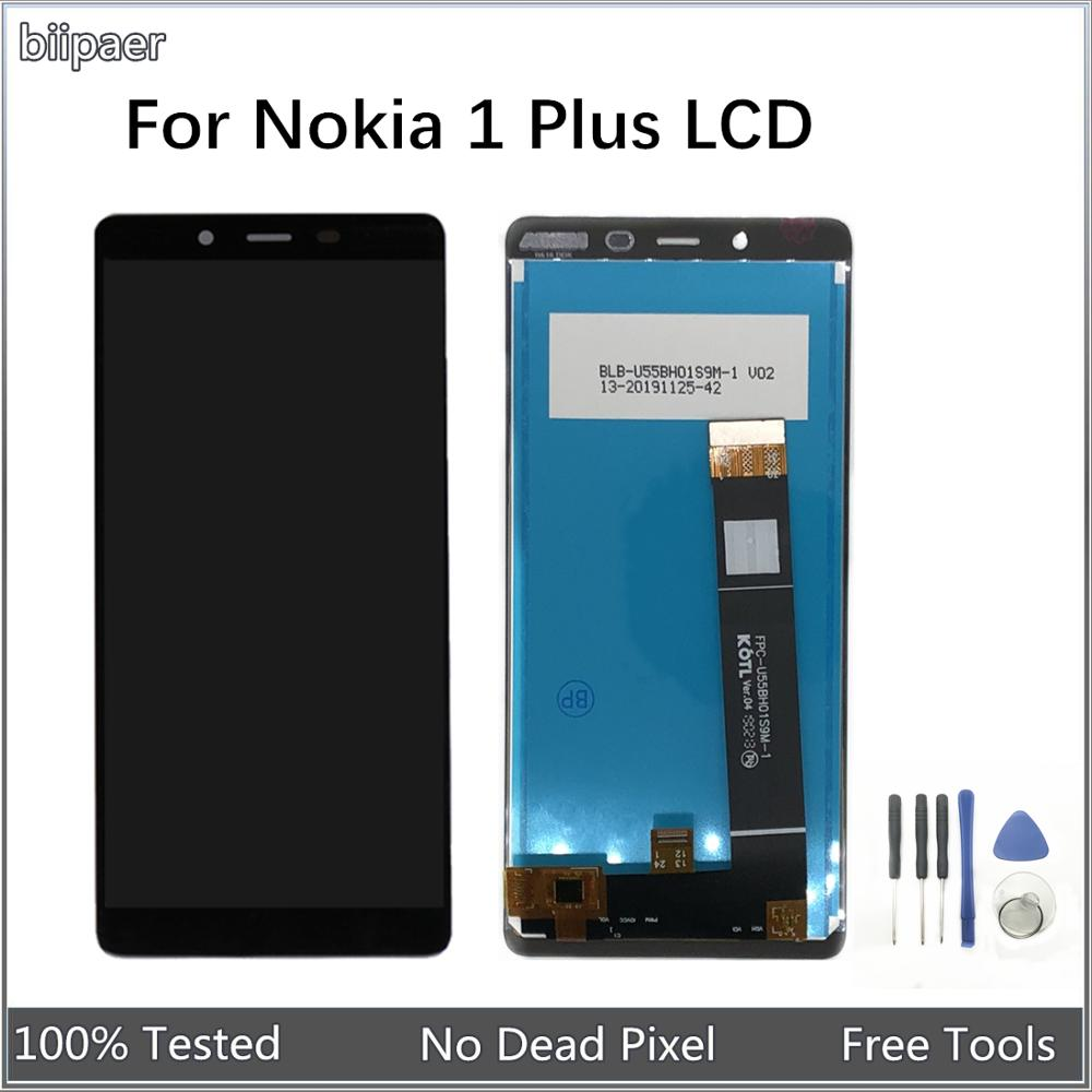 LCD Display For <font><b>Nokia</b></font> <font><b>1</b></font> <font><b>Plus</b></font> <font><b>TA</b></font>-1111 <font><b>TA</b></font>-1123 <font><b>TA</b></font>-1127 <font><b>TA</b></font>-<font><b>1130</b></font> LCD Display Touch Screen Digitizer Assembly For <font><b>Nokia</b></font> 1Plus image
