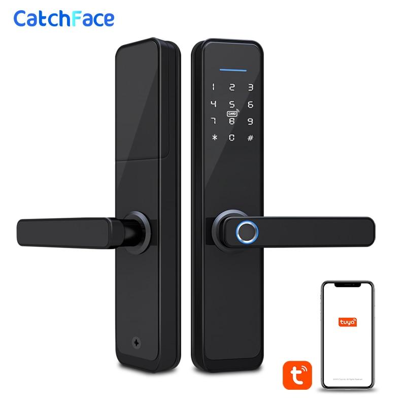 Brazil Warehouse Tuya Smart Fingerprint Door Lock Safe Digital Electronic Lock WiFi APP Password RFID Unlock For Home Security(China)
