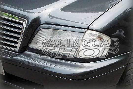 UNPAINTED EYELID EYEBROW EYELIDS EYEBROW 1PAIR for Mercedes Benz W202 C class W202 5D 4D 93-00 M118EF 1