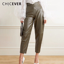 Pant Asymmetric Clothing Patchwork Loose Ankle-Length High-Waist Fashion Women CHICEVER
