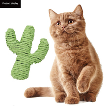 Pets Scratch Chew Teaser Pet cat toy paper rope green cactus molars chewing interactive pet dog supplies