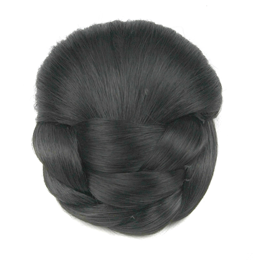 Soowee 6 Colors Synthetic Hair Braided Chignon Brown Blonde Clip In Hair Bun Women Donut Hair Accessories Roller Hairpieces