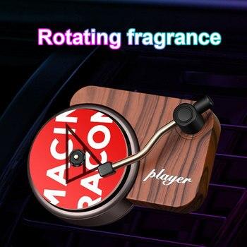 Interior Mini Clip Air Vent Record Player Shape Universal Vintage Decoration Freshener Car Perfume Fragrance Diffuser Auto