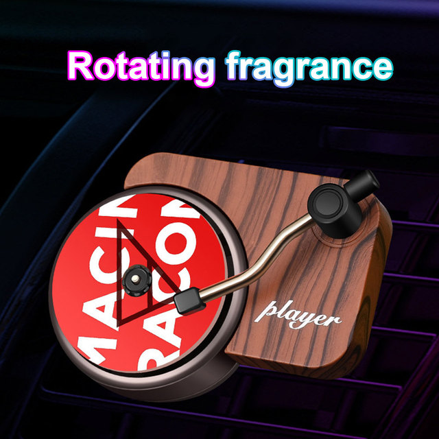 Interior Mini Clip Air Vent Record Player Shape Universal Vintage Decoration Freshener Car Perfume Fragrance Diffuser Auto