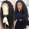 Кудрявые волосы Melodie 13X4, парики из человеческих волос на сетке спереди 26 28 30 дюймов 4x4, парик из бразильских волос с глубокой волной
