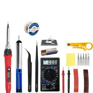 Image 4 - Электрический паяльник 80 Вт с регулируемой температурой 220 В 110 В, сварочный паяльник, паяльная станция, набор аксессуаров для паяльника