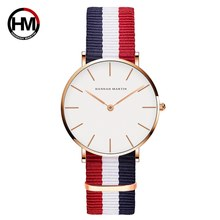 2019 Quartz Watch Japan Movement Fashion Girl Student Casual Young Ladies Watches Nylon Strap Waterproof Wristwatches For Women(China)