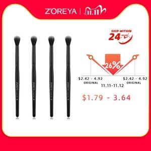 Image 2 - Zoreyaブランド黒しわ化粧ブラシソフト人工毛ポータブルアイメイクセット旅行化粧ブラシメイクアップ
