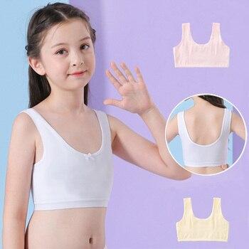 Mädchen Bh Teenager Kleidung Top Unterwäsche Einfarbig Trainings Bh Weiche Baumwolle  1