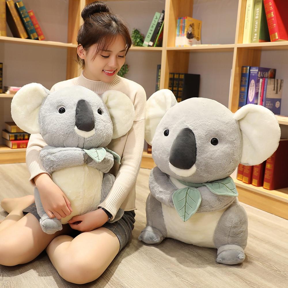 Big Soft Koalas Bear Plush Toys Adventure Koala Doll Kawaii Simulation Mother Kids Koalas Birthday Christmas Gift For Kids Baby