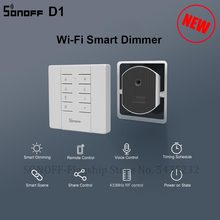 Itead SONOFF D1 DIY Smart Dimmer Switch Wifi Mini Switch Module Support Dimmable LED light Work With Sonoff RM433 For Smart Home