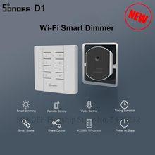 Itead SONOFF D1 DIY akıllı Dimmer anahtarı Wifi Mini anahtarı modülü desteği kısılabilir LED ışık ile çalışmak Sonoff RM433 için akıllı ev