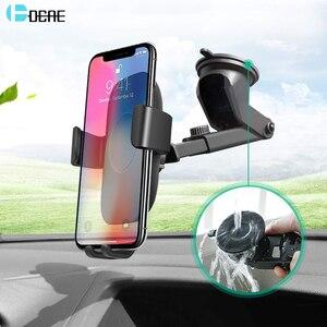 Image 1 - Dcae 10W Không Dây Nhanh Chóng Sạc Trên Ô Tô Cho iPhone 11 XS XR X 8 Tề Sạc Giá Đứng Trọng Lực Xe Ô Tô giá Đỡ Điện Thoại Dành Cho Samsung S10 S9