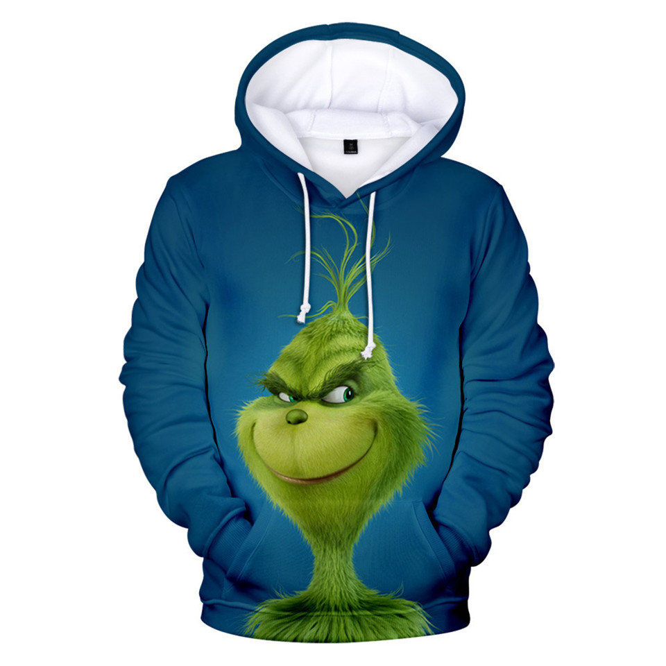 The Grinch 3D Print Hoodie In Men/Women Sweatshirts Long Sleeve Autumn Warm Children's Pullovers High Quality Popular 3D Hoodie