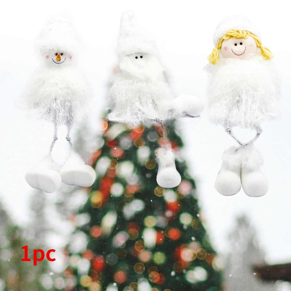 Плюшевая игрушка, переносное украшение, милая Рождественская мягкая кукла, Детский Снеговик, настольный домашний подарок, мультяшное украшение