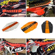 universal motorcycle rear swingarm fork protector sticker cover decals for ktm sx mx sxf exc exc f xc f xcf w xcf xcw Motocross MX Enduro Ribbed Traction Gripper Seat Cover Orange for KTM EXC XCW XCF SX SX-F Six Days 65 85 125 150 250 350 450 500