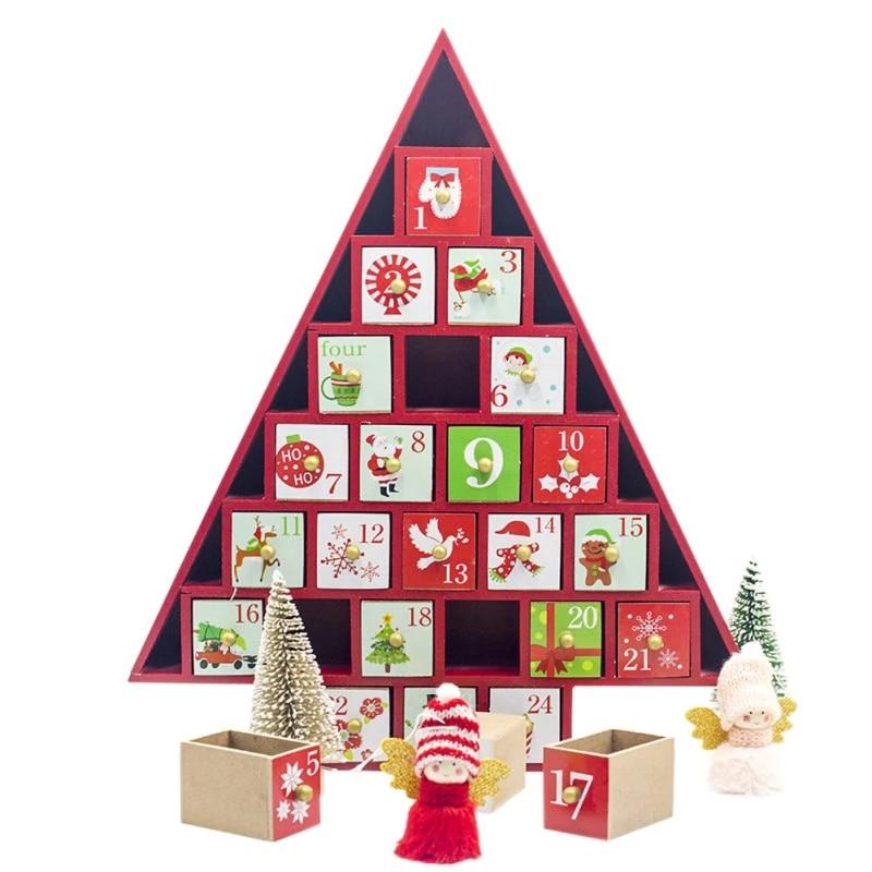 Hristmas Countdown Calendar Storage Box Color Cottage House Advent Calendar Christmas Decorations For Home Kalendarz Adwentowy Advent Calendars Aliexpress
