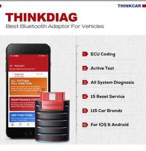 Image 2 - Thinkcar thinkdiag antigo versão inicialização v1.23.004 obd2 leitor de código diagzone bluetooth android ios scanner x431 pro3 ferramenta easydiag 4
