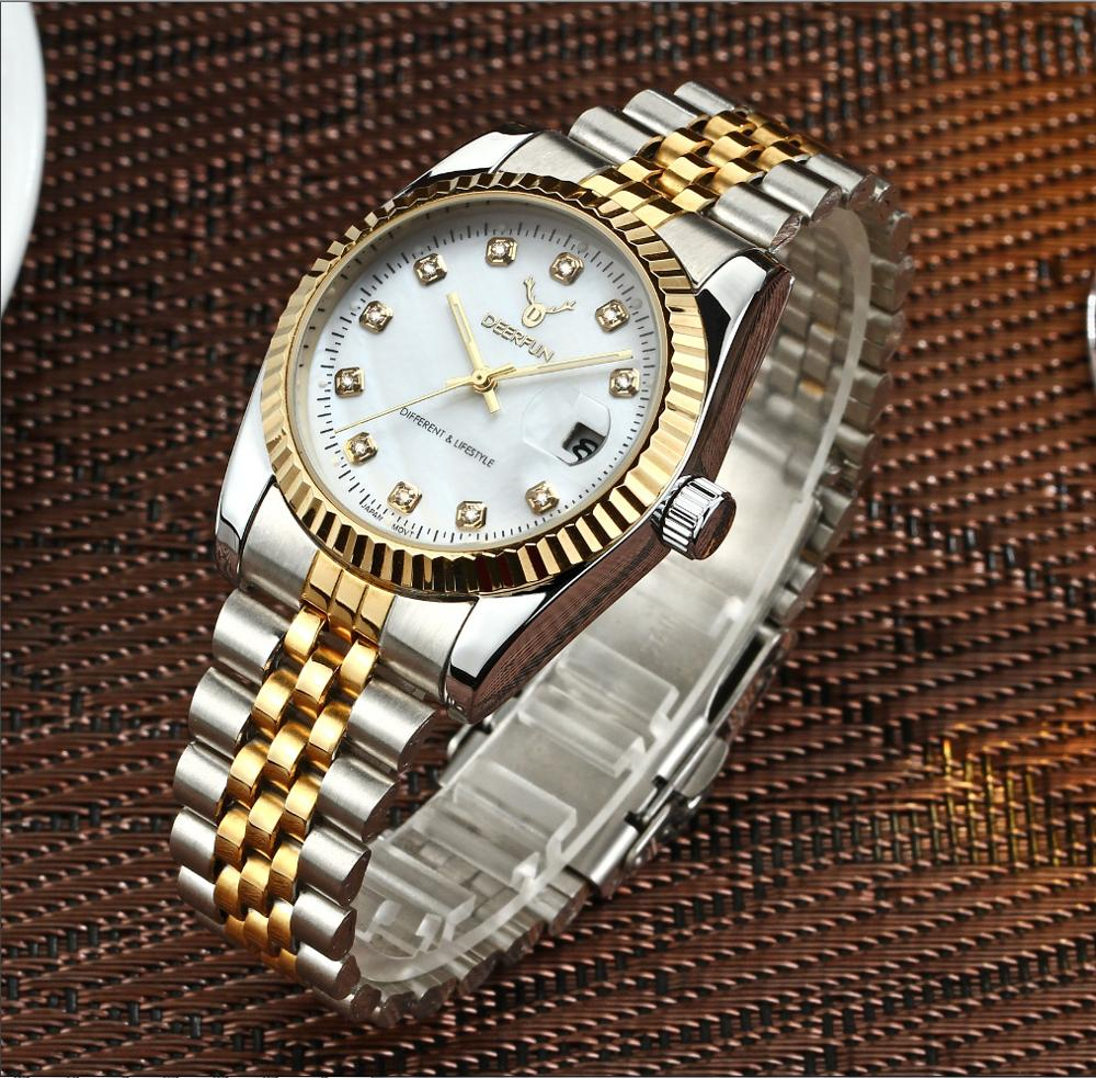 New Luxury Rolexable Watches Luxury Famous Brand DATE Watches Women Female Sports Stainless Steel Wrist Watches Reloj Mujer