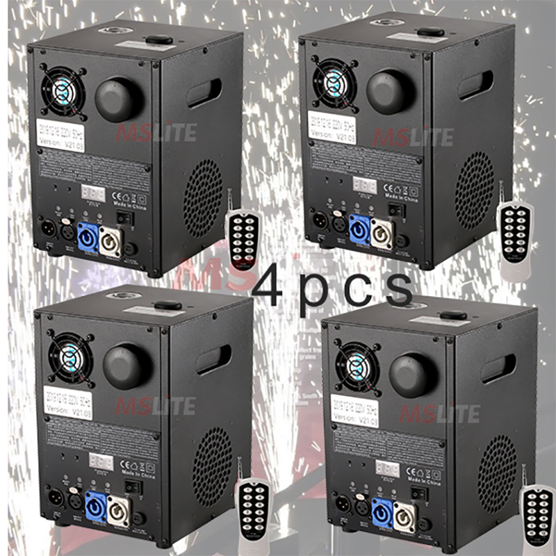 4PCS Cold Firework Machine Stage Effects Low Smoke Sparkular Machine For Wedding And Party And DJ