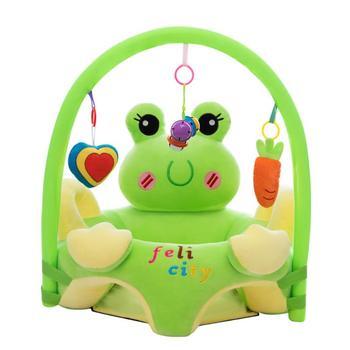 Dziecko pluszowe krzesło Sofa zestaw łożysko okładka Cartoon nauka siedzieć pluszowe krzesło maluch gniazdo Puff zmywalny z prętem zabawki bez wypełnienia tanie i dobre opinie Unisex plush CN (pochodzenie) 7-12m 13-24m 25-36m Zwierząt Chair this is just sofa cover