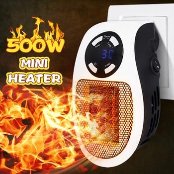 EU 220V 500W  Electric Heater  Portable Mini Hot Fan Space Heater Winter Warmer Home Office Desk For  Winter Bathroom Heating new hot 500w mini portable ceramic heater electric cooler hot fan home winter warmer us plug