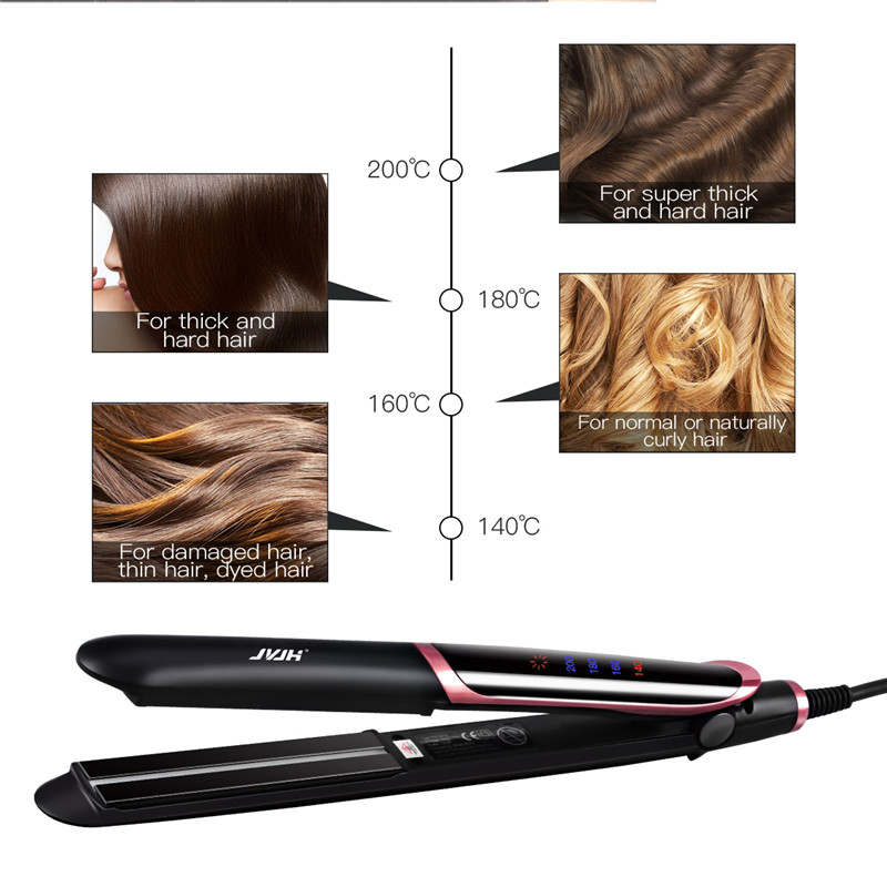 cerâmica anion ferramenta de estilo de cabelo com alça anti-escald