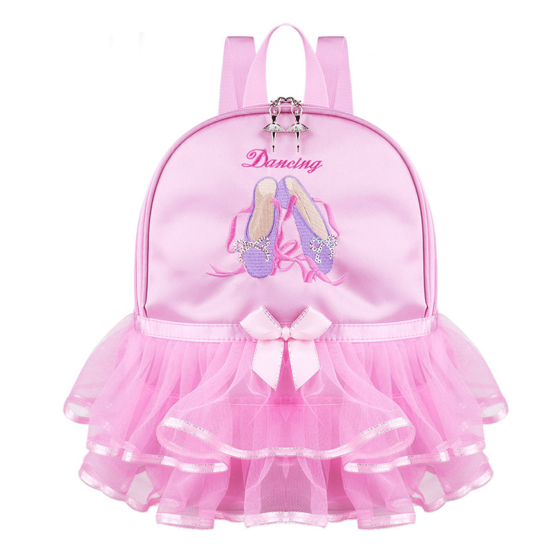 Pink Lace Girl Dance Bag For Girls Dance Ballet Bag For Girls Baby Children Ballerina Bag Kid Gymnastics Embroidered Backpack