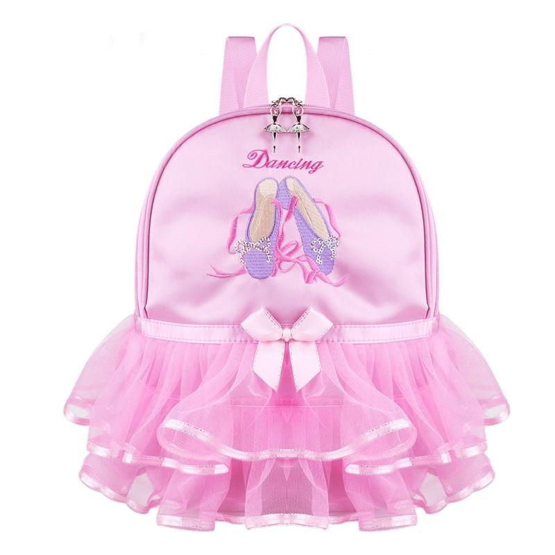 Pink Lace Girl Dance Bag For Girls Dance Ballet Bag For Girls Baby Children Ballerina Bag Kid Gymnastics Embroidered Backpack