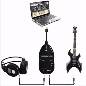Wholesale Hot Guitar Cable Audio USB Link Interface Adapter For MAC/PC Music Recording Accessories For Guitarra Players Gift mac audio mpe 4 0