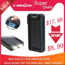Waterproof Solar Power Bank with Cigarette Lighter Mobile Ex