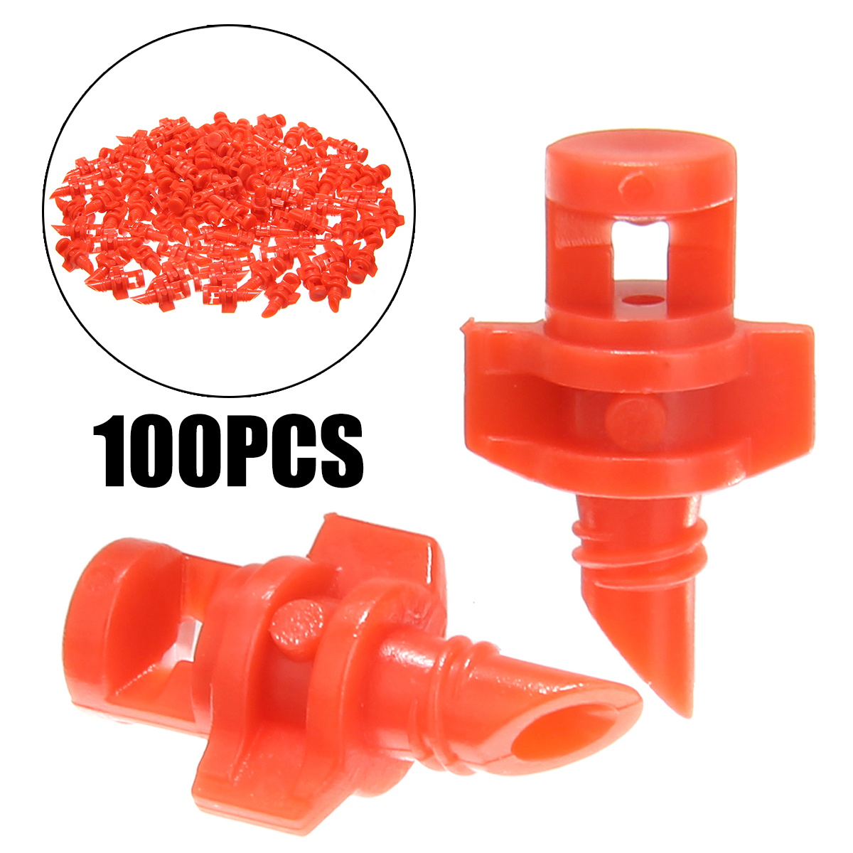 100PCS/pack 360 Degree Refraction Misting Nozzle Garden Irrigation Sprinkler For Plant Spray Nozzle Mist Sprayer Irrigation