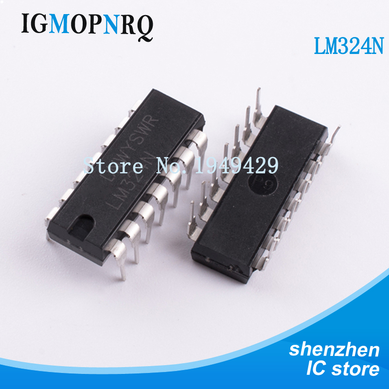 Free Shipping 10pcs/lot LM324N LM324 DIP14 New Original
