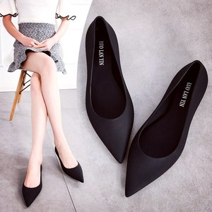 EOEODOIT Jelly Flats Shoes Women Beach Sand Shoes Soft Pointy Toe Flat Heel Summer Sandals Female Rain Shoes Slide Resistance(China)