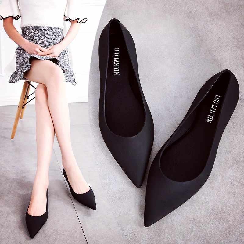 EOEODOIT Jelly Flats Shoes Women Beach