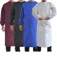Lab Coats Waterproof Jacket Longsleeve Grease Proofing Scrub Uniform 6Colors